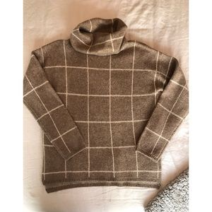 Madewell Turtleneck Checkered Sweater